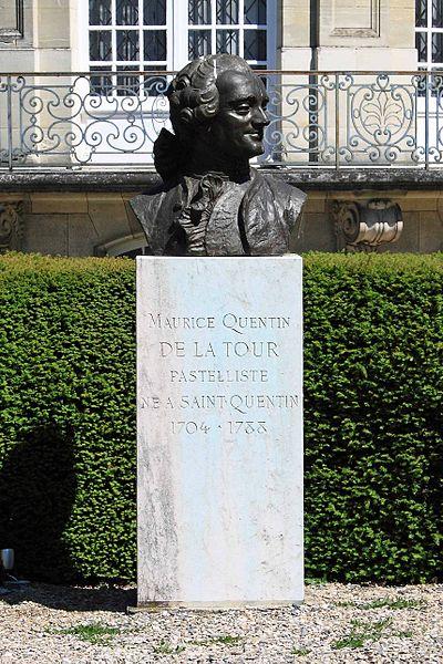 SAINT-QUENTIN - Buste de Maurice Quentin de la Tour, parc du musée Antoine Lécuyer
