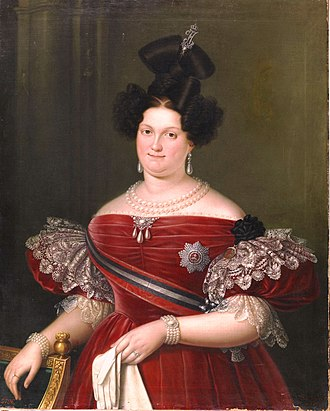Maria Christina of the Two Sicilies - Image: La reina María Cristina de Borbón Dos Sicilias. (Museo del Prado)