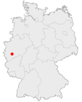 Location of Cologne in Germany