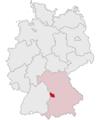 Lage des Landkreises Donau-Ries in Deutschland.png