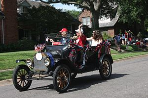 Lakewood, Dallas - A parade float in the Lakewood 4th of July Parade.