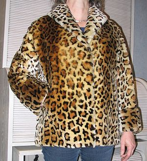 lamb jacket with leopard print, Germany