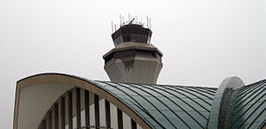 St. Louis Lambert International Airport - Control tower and main terminal