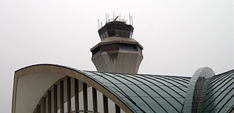 St. Louis Lambert International Airport - Control tower and main terminal