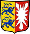 Coat of arms of Šlēsviga-Holšteina