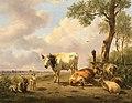 Landschap met vee2 1825 door Jan van Ravenswaay (1789-1869).jpg