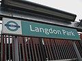 Langdon Park DLR stn signage.JPG