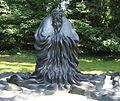 Laozi aus Bronze (2003), von Yungang Chen (chinesisch, geb. 1956) 1, Malkastenpark, Düsseldorf.jpg