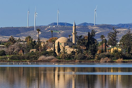 The Hala Sultan Tekke was built by the Ottomans in the 18th century.