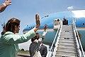 Laura Chinchilla Miranda and Barack Obama wave goodbye.jpg