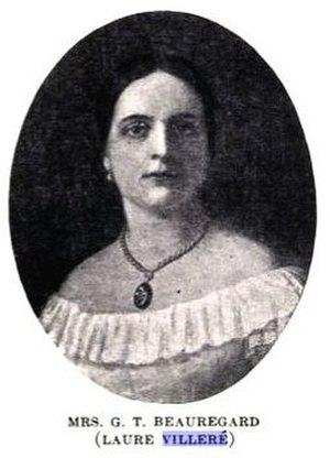 P. G. T. Beauregard - Marie Antoinette Laure Villeré, Beauregard's first wife and the mother of his three children