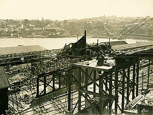 Milsons Point (Lavender Bay sites) railway stations - The second Lavender Bay railway station, under construction in 1924