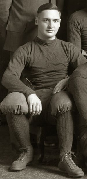 Lawrence Roehm - Lawrence Roehm cropped from 1915 Michigan football team photograph