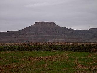 Ouled Naïl Range - A flat-topped hill near Bou-Saada.
