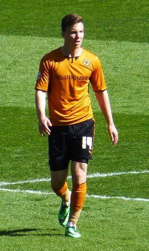 Lee Evans (footballer) - Evans playing for Wolves in 2014