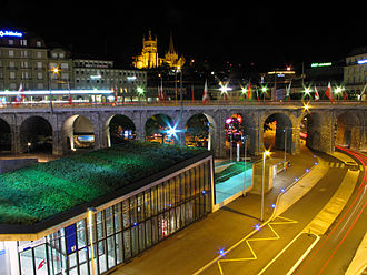 Lausanne-Flon station - Image: Leflon Lausanne