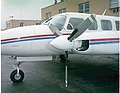 Left nacelle and propeller of a Piper PA-31 Navajo of Mohican Air Service - NARA - 17473673.jpg