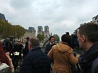 Les télévisions du monde devant Notre-Dame de Paris, au lendemain de l'incendie du 15 avril 2019.jpg