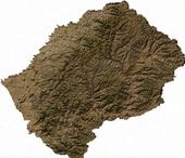 صورة فضائية لليسوتو