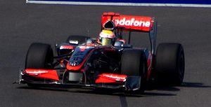 2009 European Grand Prix - Lewis Hamilton took pole position, ahead of McLaren team-mate Heikki Kovalainen.