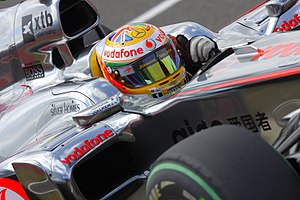 2010 British Grand Prix - Lewis Hamilton wore a special helmet design to show his ancestry.