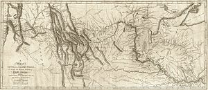 Presidency of Thomas Jefferson - Detailed map drawn by Clark showing route taken by the expedition from the Missouri River to Pacific Ocean depicting rivers, mountains and locations of Indian tribes.