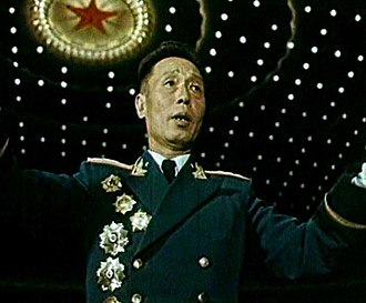 "Li Zhimin - Li Zhimin as the ""general chorus"" conductor during the performances in the People's Great Hall in 1959"