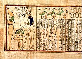 Libro de los muertos, versi�n tebana