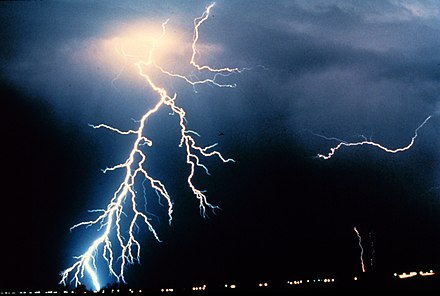 Natural Lightning is now considered an electric spark, not electric arc. Lightning NOAA.jpg