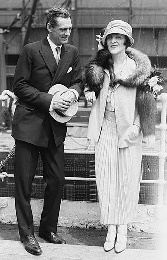 Lionel Barrymore - With second wife Irene Fenwick, 1923
