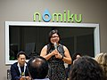 Lisa Q. Fetterman welcomes Hack and Hackers participants to Nomiku.jpg