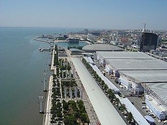 Parque das Nações - Aerial view of the Parque das Nações riverfront