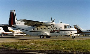 CASA C-212 Aviocar - Lloyd Aviation C-212 at Perth Airport (early 1990s).