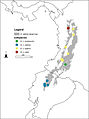 Localities of the four Olinguito subspecies in the Andes of Colombia and Ecuador - ZooKeys-324-001-g016.jpg