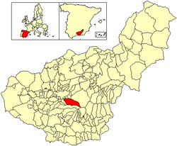 Location of Monachil
