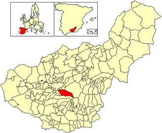 Monachil - Image: Location Monachil