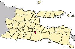 Peta lokasi Kota Malang