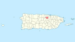 Toa Alta, Puerto Rico - Image: Locator map Puerto Rico Toa Alta