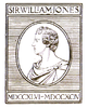Logo of the Asiatic Society of Bengal in 1905 depicting Sir William Jones