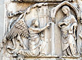 Lorenzo maitani e aiuti, scene bibliche 3 (1320-30) 06 annunciazione.jpg