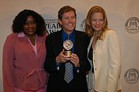 Loretta Devine, John J. Sakmar, and Jeri Ryan, May 2003 (3).jpg