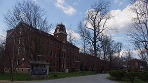 Loretto Motherhouse (Nerinx, Kentucky) - Academy Building, church, and Knob Haven