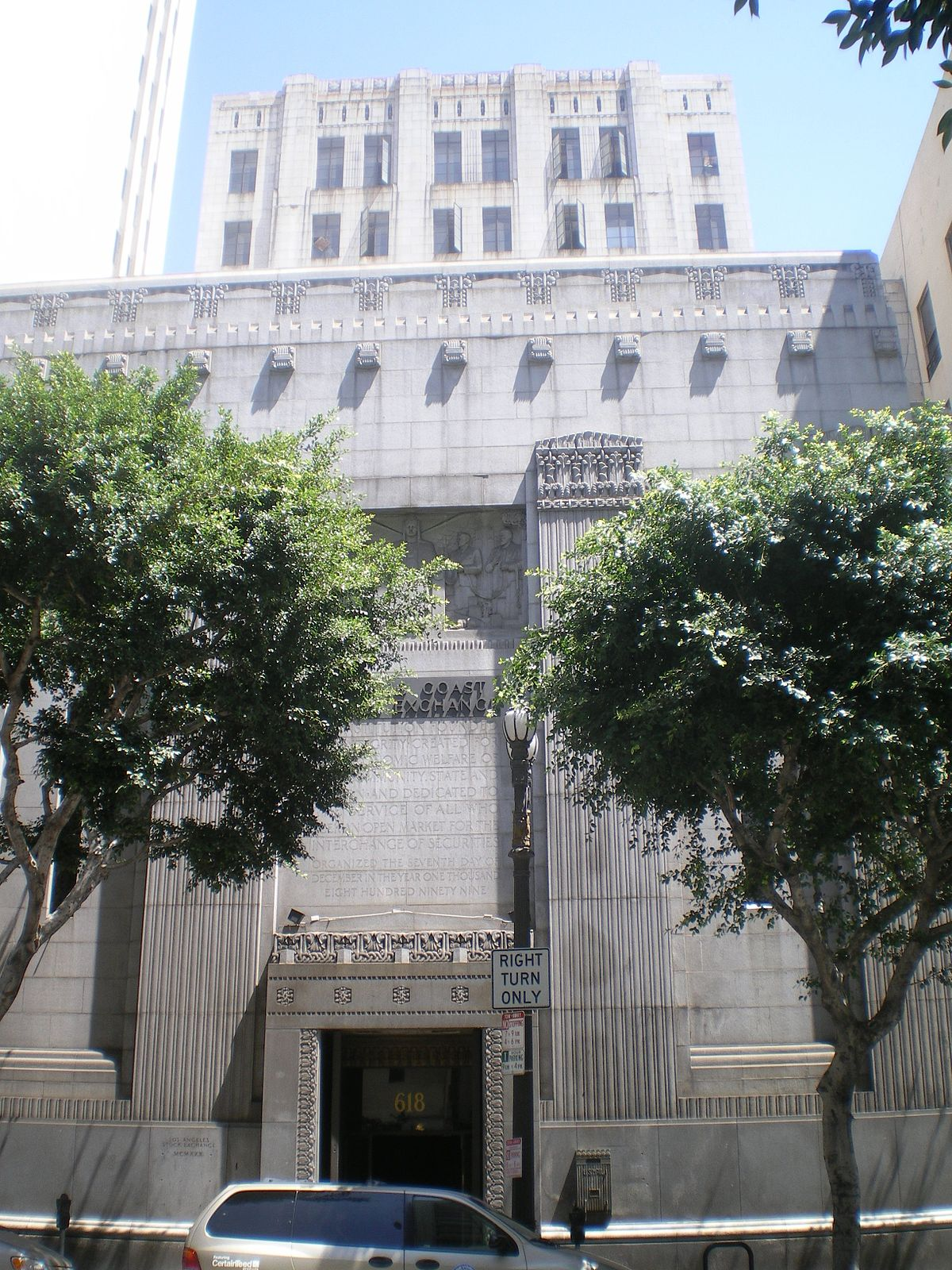 Los Angeles Stock Exchange Building Wikipedia