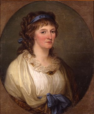 Margravine Louise of Brandenburg-Schwedt - Louise of Brandenburg-Schwedt in a painting by Angelica Kauffman, 1798