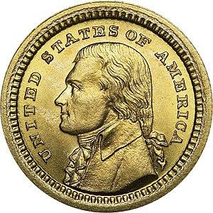 Louisiana Purchase Exposition dollar - Image: Louisiana Purchase Jefferson dollar obverse