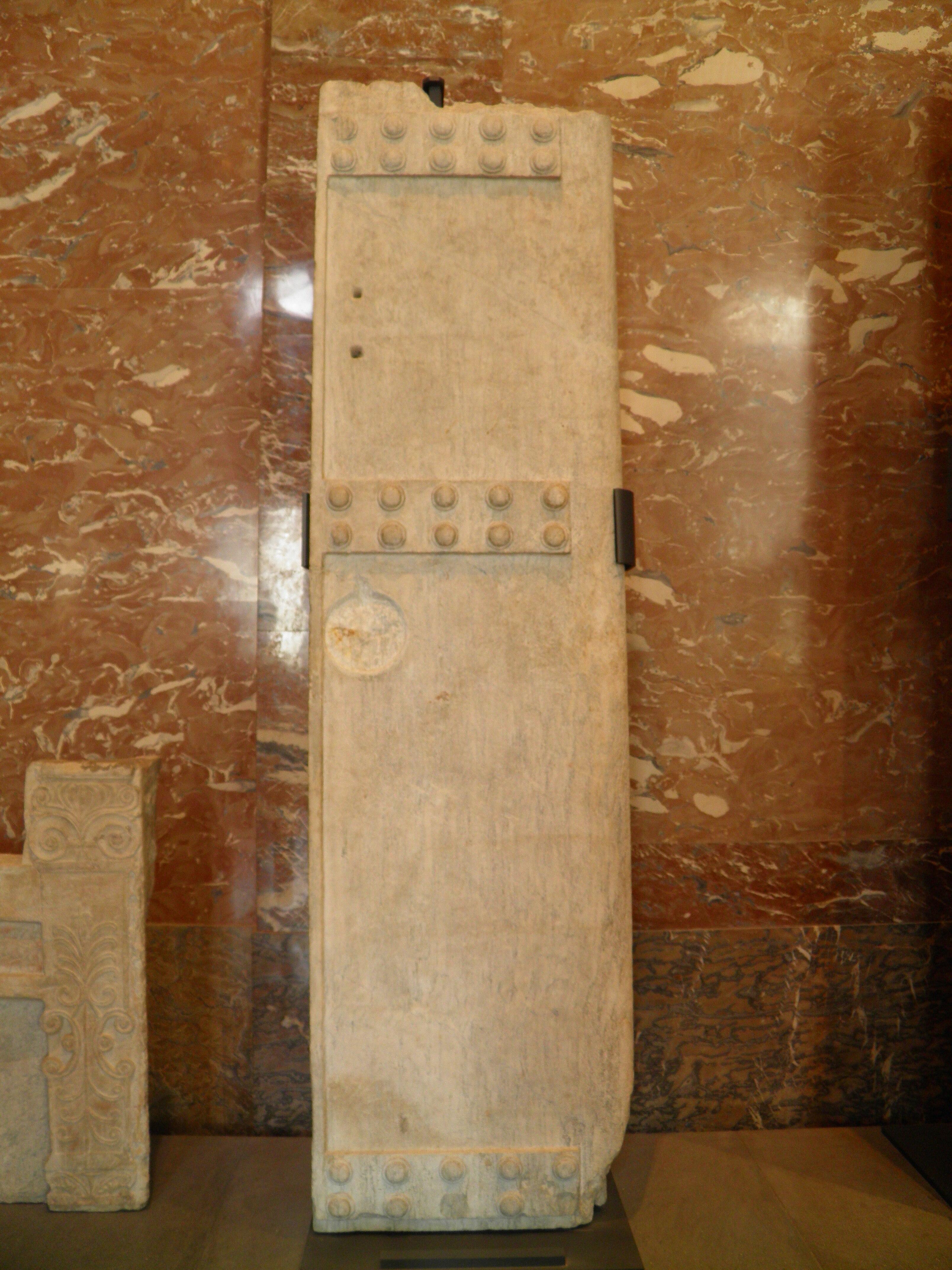 File Louvre Antiquites Grecques Battant Droit De Porte De Chambre