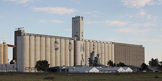Cone grain elevator, north side of Lubbock Lubbock Texas Cone Grain Elevator 2010.jpg