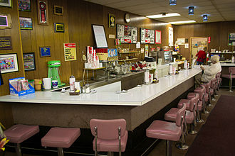 Lunch counter - A drugstore lunch counter in Hermiston, Oregon