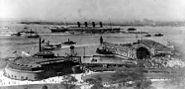 Lusitania arriving in New York