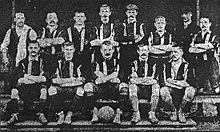 A formative photograph of an association football team